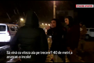 O femeie a fost spulberată de o mașină, pe o trecere de pietoni din Brașov