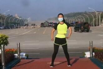 VIDEO. O instructoare de fitness a filmat din greșeală lovitura de stat din Myanmar