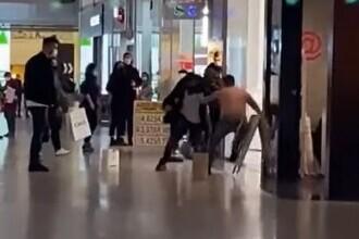 VIDEO. Bătaie în mall-ul din Craiova. Un tânăr de 21 de ani a ajuns la spital