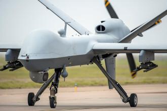 Cea mai performantă dronă din lume, prezentată la baza militară din Câmpia Turzii