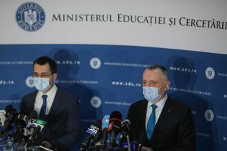 Regulile întoarcerii la școală, explicate de miniștrii Vlad Voiculescu și Sorin Cîmpeanu