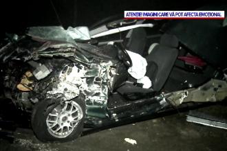 Copil de 5 ani, mort și două persoane rănite. Mașina în care se aflau s-a izbit de lama unui utilaj