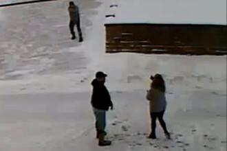 VIDEO. Și-a împușcat vecinii pentru că aruncau zăpada în fața casei sale. Momentul a fost filmat