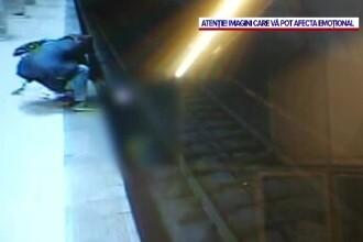 O tânără a sărit pe șinele de metrou, în stația Dristor. A fost salvată la timp de trecători