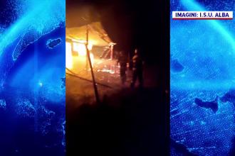 Cabană din Alba, distrusă de flăcări. De la ce a pornit incendiul