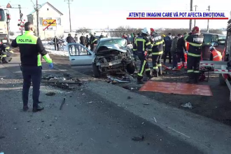 Accident grav pe DN7. O persoană a murit, după ce un șofer a intrat fără să se asigure în depășirea unei coloane de mașini