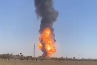 Cel puţin 10 răniţi în explozia unei cisterne de gaz la un post vamal de la graniţa irano-afgană. VIDEO