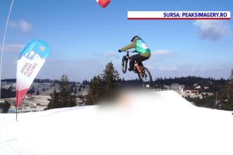 Weekend plin la Păltiniș. Concurs freestyle de mountain-bike, fără spectatori