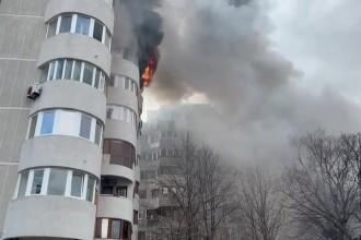 Scene socante in Constanta. O femeie a murit dupa ce a sarit de la etajul 6, din foc