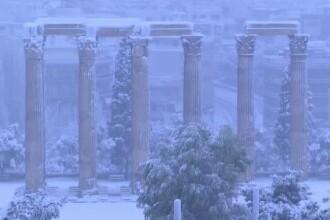 Iarnă grea în Europa. Cea mai puternică ninsoare, în Grecia, în ultimii 12 ani