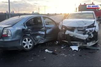 Accident grav la ieșirea de pe Autostrada A1, după ce un șofer a intrat cu viteză într-o curbă periculoasă