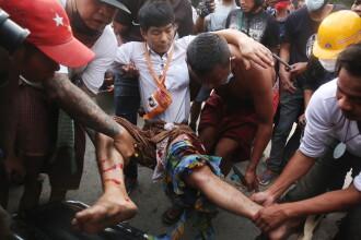 Poliţia a tras asupra manifestanţilor, în Myanmar. Două persoane au murit, 30 au fost rănite