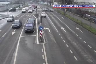 Accident în Timișoara, între un autoturism și o motocicletă. Ce greșeală a făcut șoferul