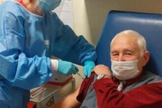 Un veteran de 91 de ani din Cluj s-a vaccinat anti-Covid. Ultimul vaccin pe care și-l făcuse a fost acum 85 de ani