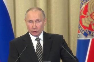 Putin acuză o campanie occidentală agresivă contra Rusiei. Ce a cerut FSB-ului