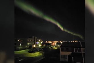 Imagini spectaculoase pe cerul Islandei. Cum se produce aurora boreală