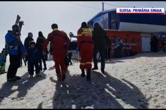 O fetiță de 6 ani a căzut din telescaun, la Sinaia. Care este starea ei