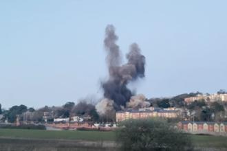 VIDEO. Momentul în care o bombă din Al Doilea Război Mondial este detonată în Marea Britanie