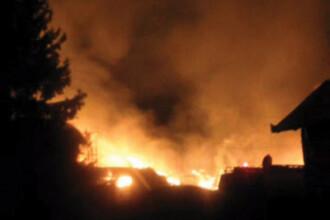 Incendiu suspect la o baza sportiva din Sibiu!