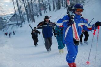Traseele de schi din Predeal, in stare buna, chiar daca se incalzeste