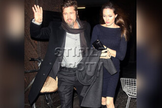 Angelina Jolie (cam slaba) si Brad Pitt (cam neras), vanati de paparazzi