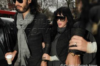 Katy Perry si-a scos la plimbare inelul de logodna (si logodnicul)
