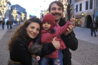 Alexandru Papadopol si Ioana Ginghina si-au dus fetita in Austria