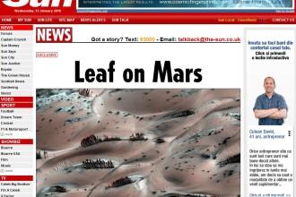 Copaci infrunziti pe Marte?!? Tu ce crezi?