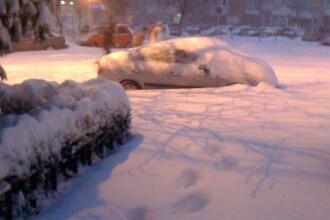 Viscol si ninsori abundente in sud-estul tarii! Vezi IMAGINI