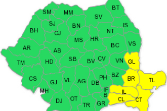 Ger, ninsori si viscol, in Romania! Din nou cod galben