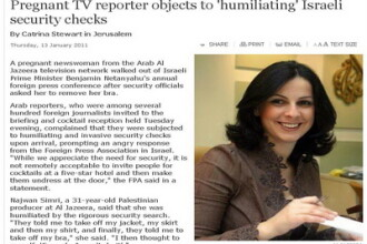 A refuzat sa-si dea sutienul jos! Scandal la paza premierului Netanyahu