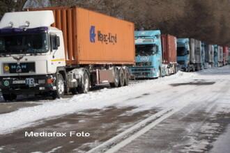S-a blocat Vama Albita. TIR-urile n-au mai intrat in Romania de joi noapte
