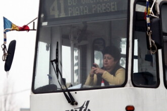 Un tramvai 41 din Capitala a deraiat. Un calator a tras semnalul de alarma