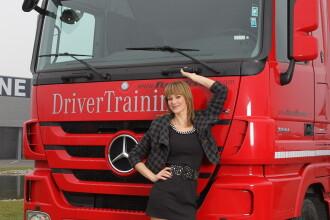 Roxana Ciuhulescu poate sa conduca autobuze si camioane