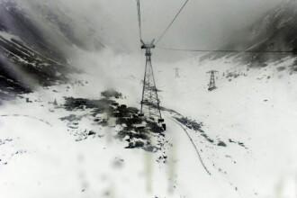 -5 grade Celsius si ninsori: la munte a venit iarna. Stratul de zapada ajunge la 30 cm la Balea