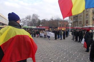 A sasea zi de proteste. Aproape 200 de timisoreni au fost in strada