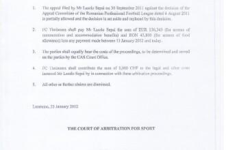 Iancu a dat publicitatii dovada că Sepsi este in continuare jucatorul lui Poli