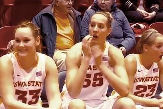 VIDEO.Surpriza de proportii pentru o jucatoare de baschet. Ce a facut iubitul ei, in timpul meciului