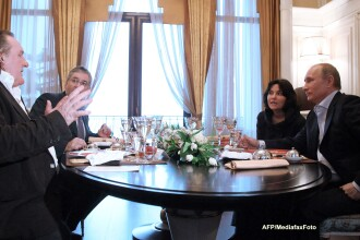 Gérard Depardieu s-a intalnit cu Vladimir Putin si a primit pasaport rusesc