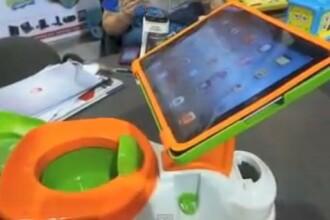 Inventia anului la CES 2013 pentru copii: Olita cu suport pentru iPad. Cat va costa iPotty. VIDEO