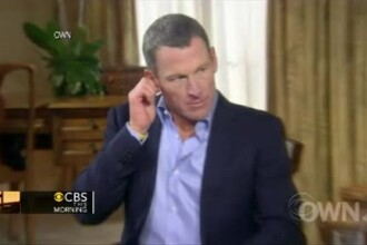 Lance Armstrong, in lacrimi: