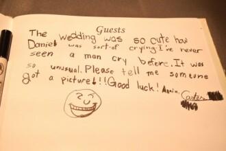 Mesajul unui copil la o nunta a devenit viral pe internet. Ce le-a transmis mirilor. FOTO