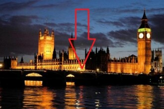 Aparitie misterioasa in fata Parlamentului din Londra, de Anul Nou.