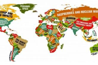 Harta care arata la ce se pricepe cel mai bine fiecare tara. Ce scrie in dreptul Romaniei