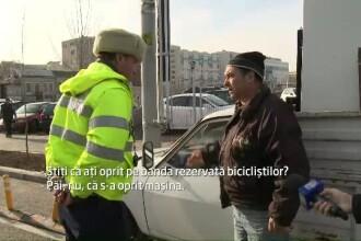 Bucuresti, capitala soferilor nesimtiti. Cum se strica masinile fix pe pistele pentru biciclisti