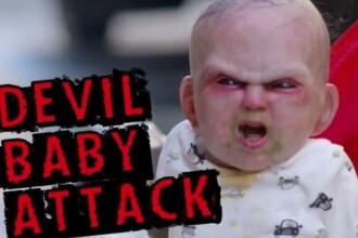 VIDEO. Un bebelus posedat, pe strazile din New York. Reactia locuitorilor a devenit viral pe Youtube
