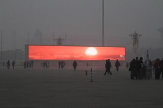 Rasaritul, acum doar pe ecrane. In China, poluarea a depasit de 20 de ori nivelul recomandat de doctori