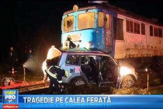 Tragedie azi-noapte in Sangeorgiu de Mures. Un tren personal a lovit in plin un autoturism