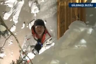 Catalin Radu Tanase transmite din Galbinasi, localitatea unde nametii au atins 4 metri. VIDEO