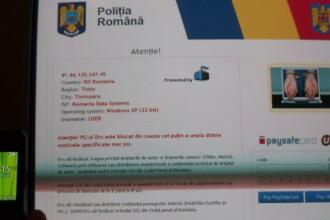 VIRUSUL POLITIA ROMANA. Suma incasata de hackeri de la utilizatorii care au avut PC-urile infectate cu acest virus
